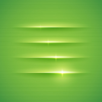 Glowing stripes on green background .  illustration.