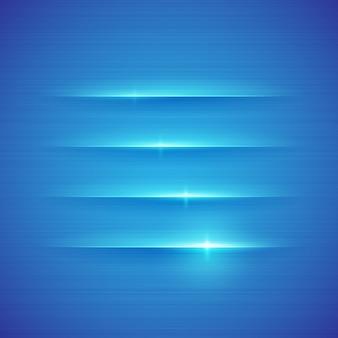 Светящиеся полосы на синем фоне. иллюстрация.