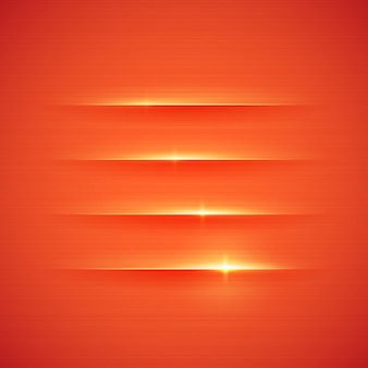 Glowing stripes on red background.  illustration.