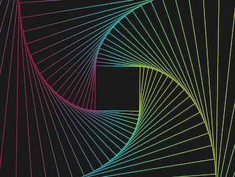 Glowing techno line geometric pattern background, vector illustration