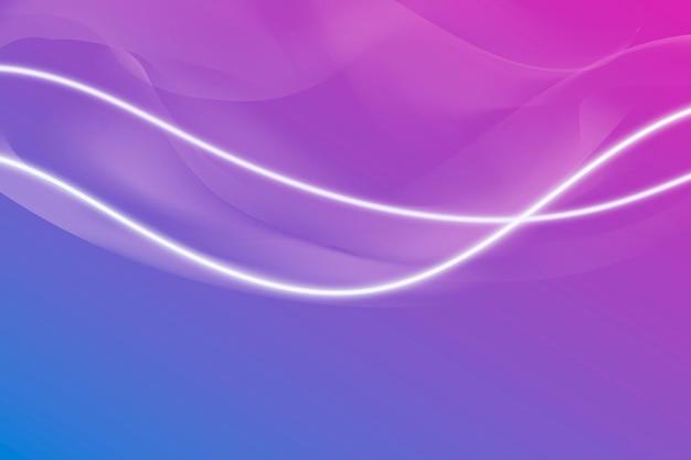 Светящаяся белая неоновая линия с рисунком фона