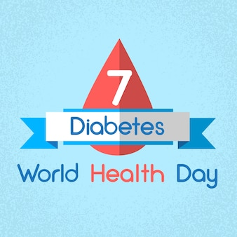 Glucose meter level diabetes world health day