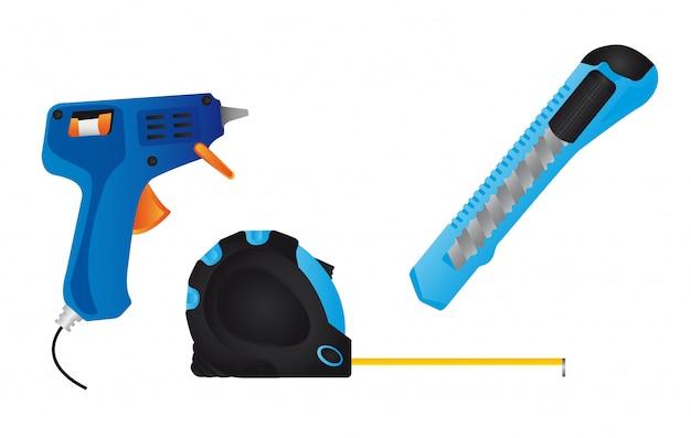풀 총 블루 커터 및 미터