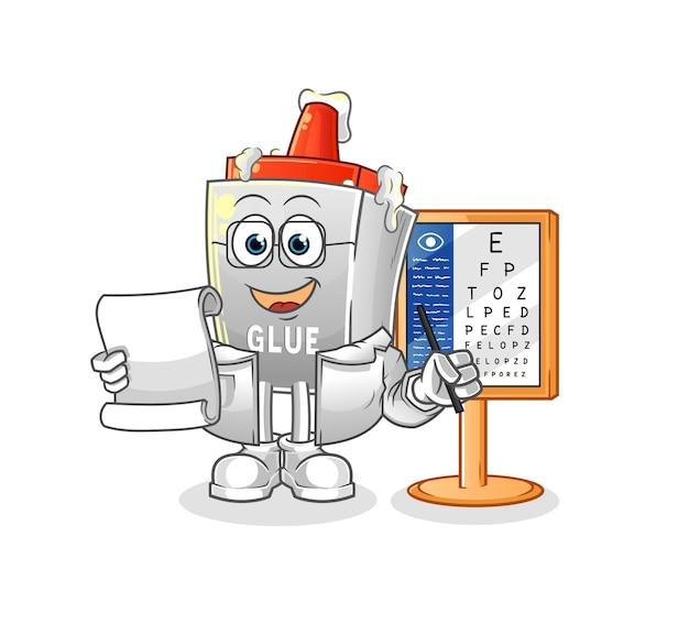 The glue oculist cartoon. cartoon mascot