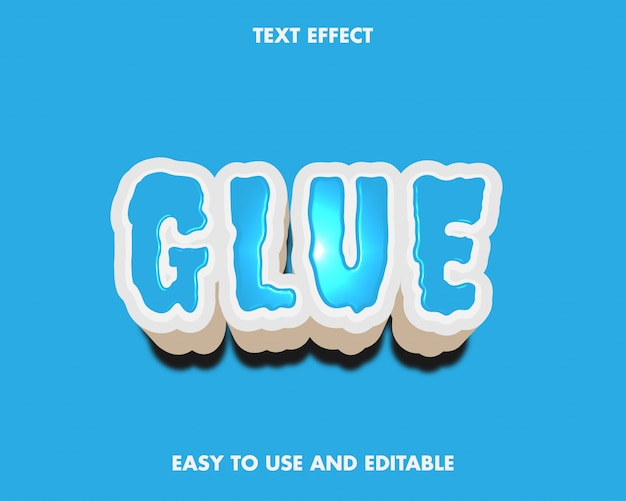 Glue text effect.