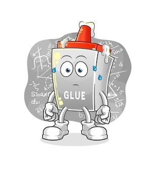 The glue thinking hard . cartoon character