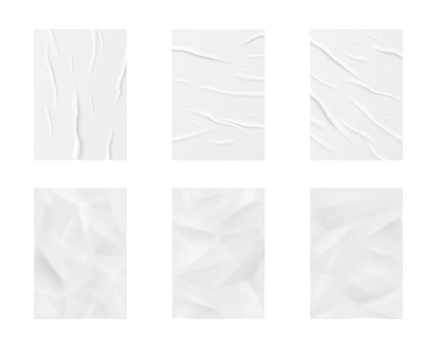 Glued paper wrinkled effect