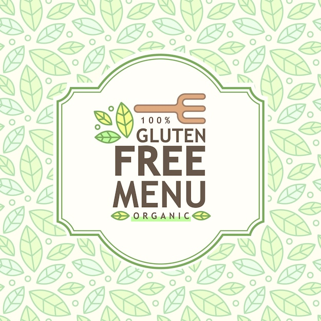 Free Gluten free icon, gluten free sign isolated over white