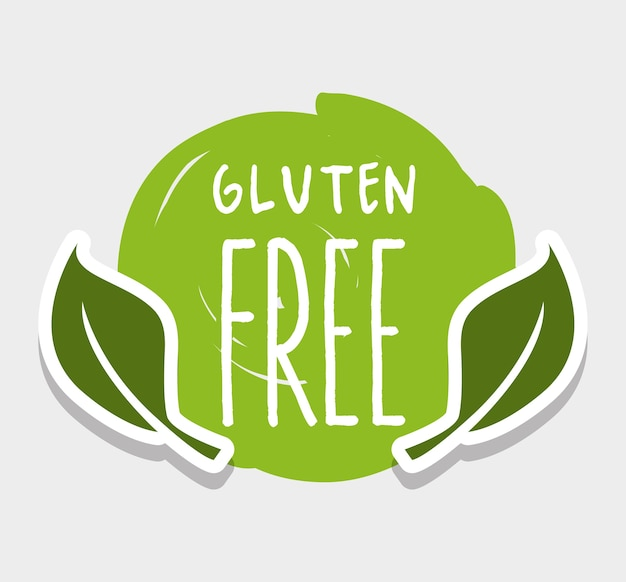 Gluten free message with natural leaves