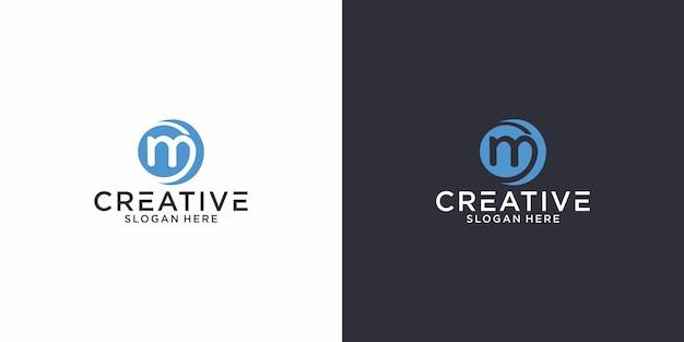 Графический дизайн логотипа gm initials идеально подходит для других целей