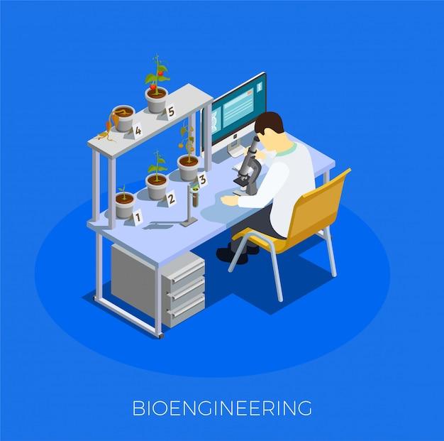 Gmo bio engineering isometric composition
