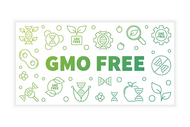 Gmo free  outline banner