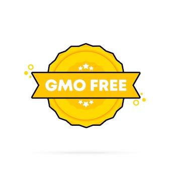 Gmo 무료 스탬프입니다. 벡터. gmo 무료 배지 아이콘입니다. 인증 배지 로고. 스탬프 템플릿. 레이블, 스티커, 아이콘입니다. 벡터 eps 10입니다. 흰색 배경에 고립.