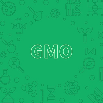 Gmo vector green concept outline frame
