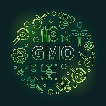 Gmo円形緑細線
