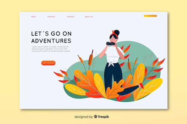 Go on adventure landing page