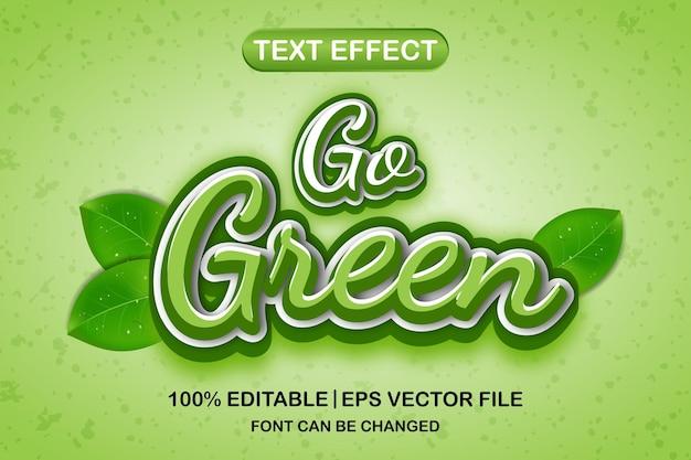 Сделайте зеленый 3d редактируемый текстовый эффект