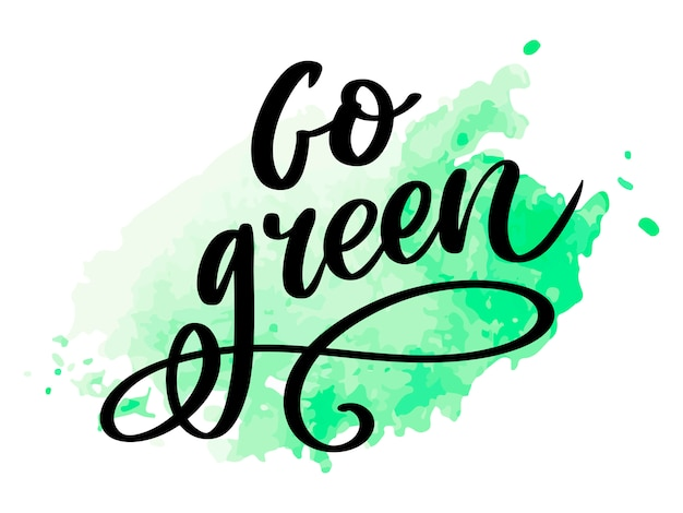 Go green concept lettering