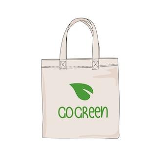 Go green ecological problem print