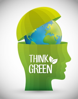 Go green and ecology theme design