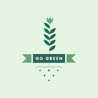 Go green for the environment icon