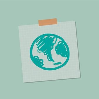 Go green global note illustration