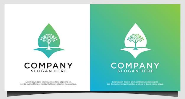 Go green logo design template