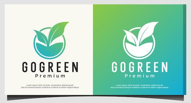 緑のロゴデザインベクトルに行く