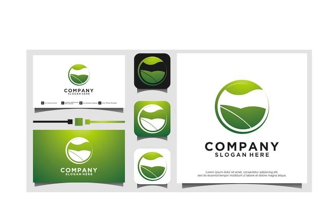 Go green logo design vector