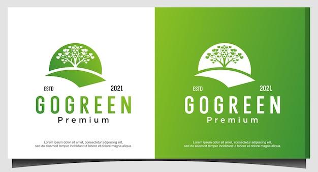 緑の自然生活のロゴデザインに行く