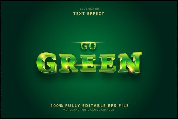 緑のテキスト効果に行く