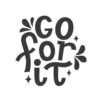 Go for it. vector typography
