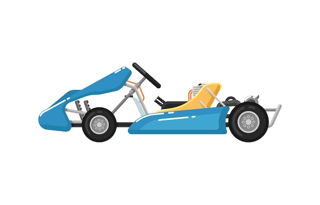 Go kart isolated icon in flat design