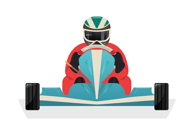 Go kart racer isolated  icon