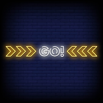 Go neon signs стиль текст