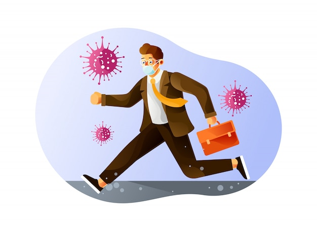 Go to the office in a hurry during a pandemic