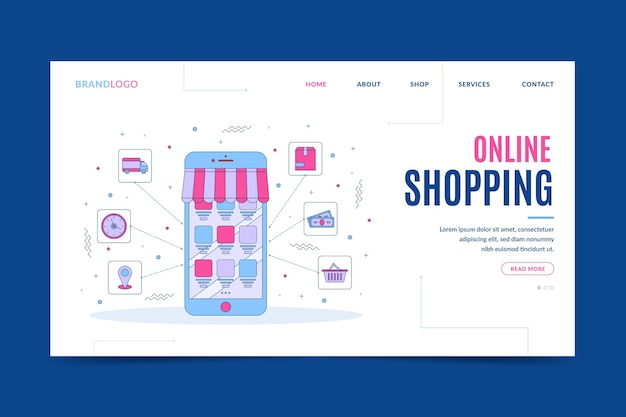Go online shopping landing page