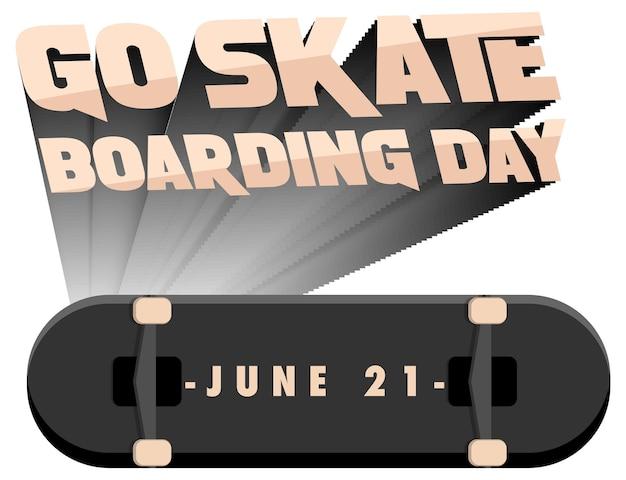 6月21日のスケートボードの日に行くバナー分離