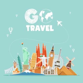 Go travel illustration