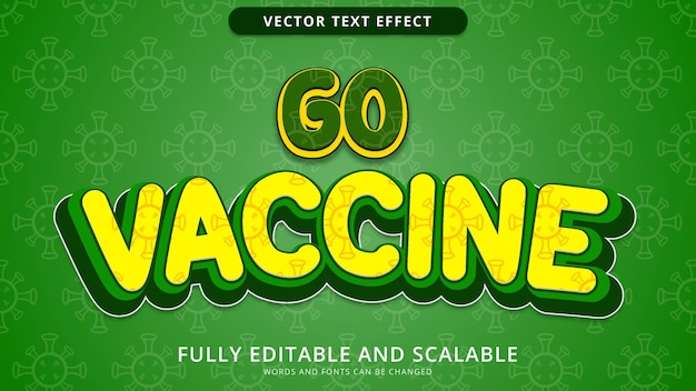 Go vaccine text effect editable eps file