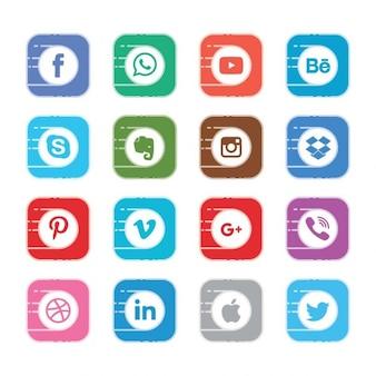 Социальные кнопки покемон go стиль комплект