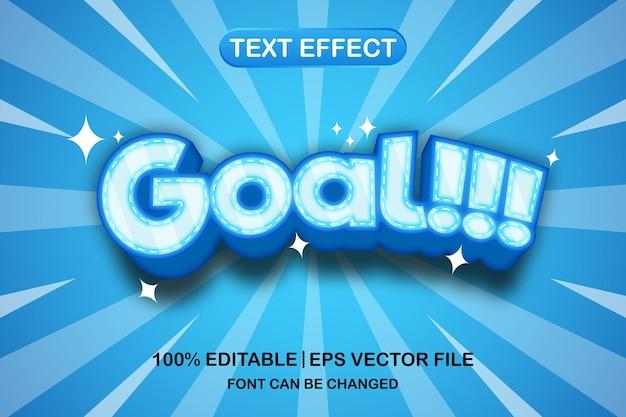 목표 3d 편집 가능한 텍스트 효과