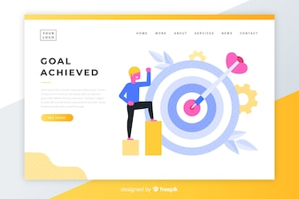 Goal achieved colorful landing page
