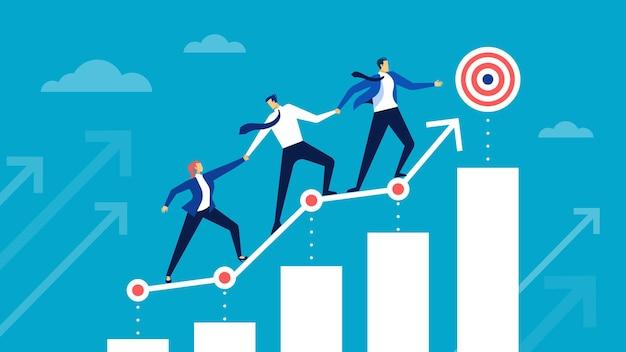 Достижение цели бизнес-команда стремится к достижению целей сотрудников, помогающих друг другу в достижении целей