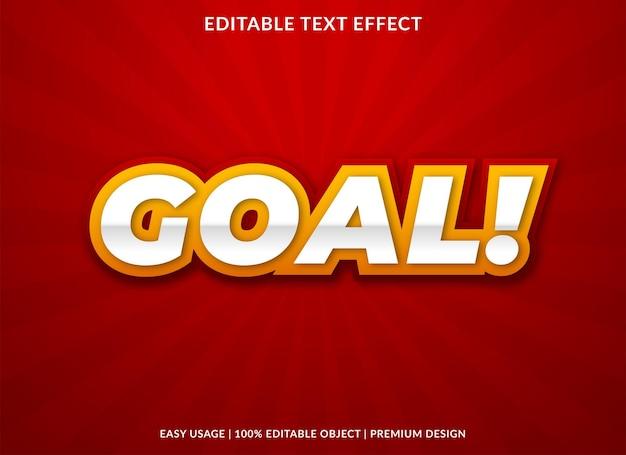 Цель редактируемый текстовый эффект шаблон премиум стиль