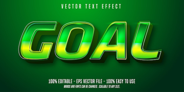 Goal editable text effect