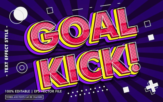 Goal kick! text effects style