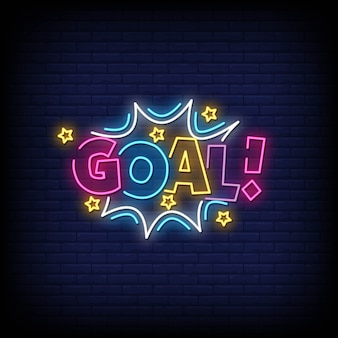 Goal neon sign