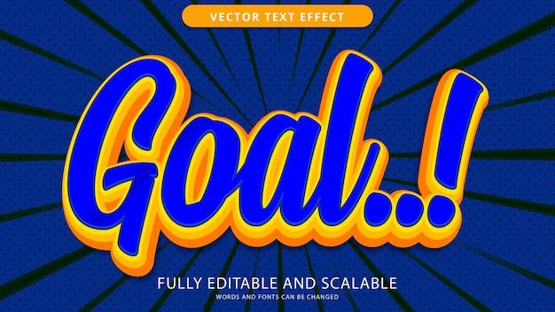 Goal text effect editable eps file
