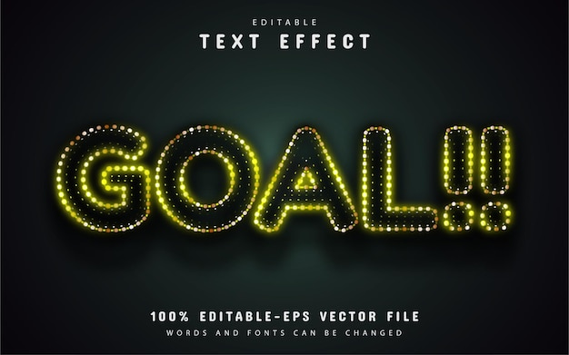 Goal text, yellow neon style text effect